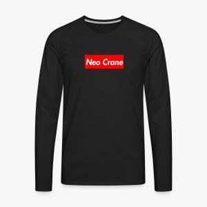 Neo Crane Box Logo - Men's Premium Long Sleeve T-Shirt