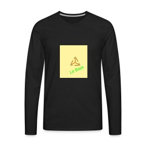 Lit Boys Don't Care merch - Men's Premium Long Sleeve T-Shirt