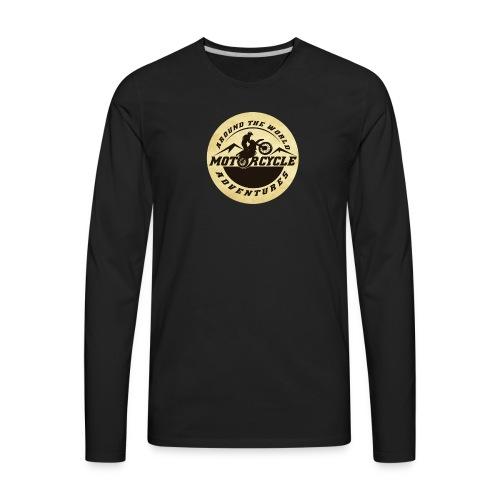 Logo Motorcycle Adventures Accessories - Men's Premium Long Sleeve T-Shirt
