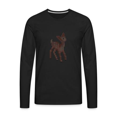 Cross Stitch Little Deer - Men's Premium Long Sleeve T-Shirt