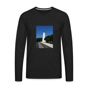 Ocracoke Lighthouse Daylight image - Men's Premium Long Sleeve T-Shirt