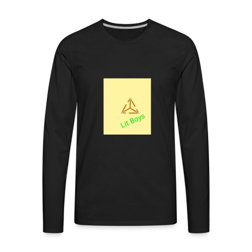 Lit Boys Don't Care merch - Men's Premium Long Sleeve T-Shirt