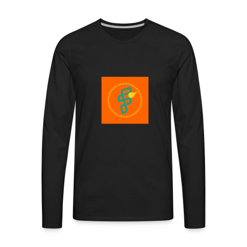 Furious Dragon logo - Men's Premium Long Sleeve T-Shirt