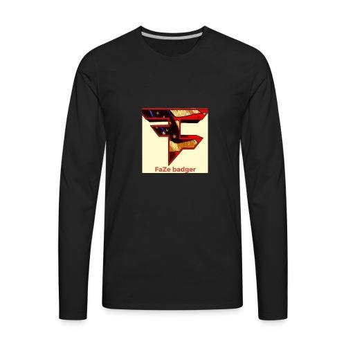 FaZe badger merch - Men's Premium Long Sleeve T-Shirt