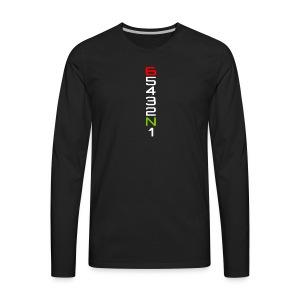 Biker T Shirts 6 5 4 3 2 N 1 - Men's Premium Long Sleeve T-Shirt