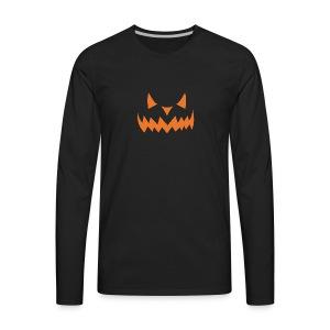 Jack o Lantern Halloween Pumkin face scary Costume - Men's Premium Long Sleeve T-Shirt