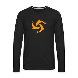 Anguilla Mapping Logo - Men's Premium Long Sleeve T-Shirt