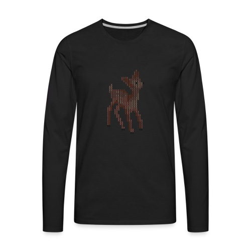 Cross Stitch Little Deer - Men's Premium Long Sleeve T-Shirt