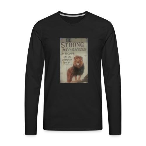 lion updates picture - Men's Premium Long Sleeve T-Shirt