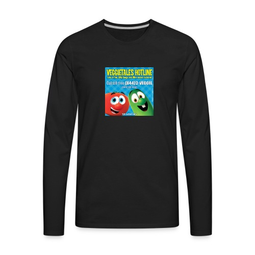 Veggietales Hotline Design - Men's Premium Long Sleeve T-Shirt