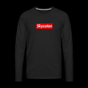 Limited Edition Supreme SkyCatan Logo - Men's Premium Long Sleeve T-Shirt