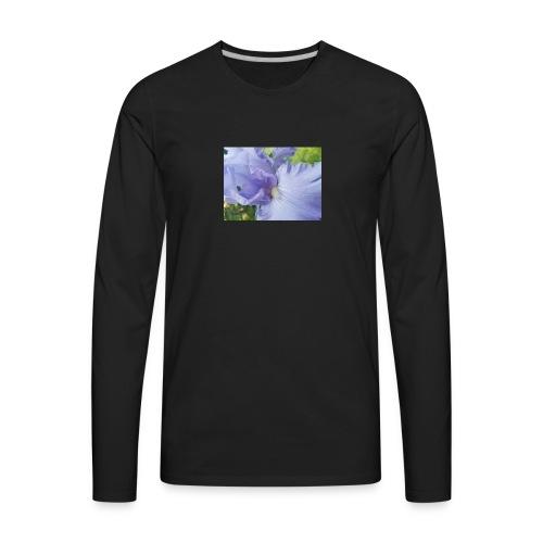 Purple Iris Design - Men's Premium Long Sleeve T-Shirt