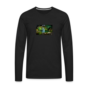waterfall wallpaper desktop - Men's Premium Long Sleeve T-Shirt