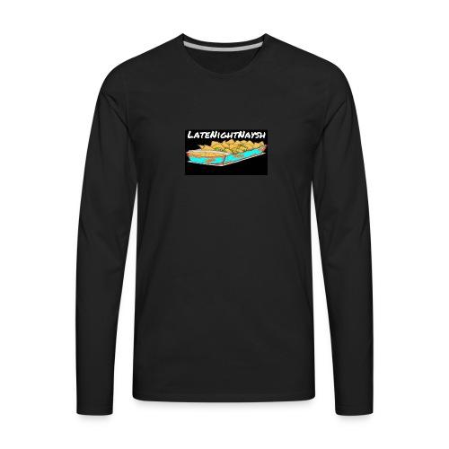 LateNightNaysh Nacho Edition!!! - Men's Premium Long Sleeve T-Shirt