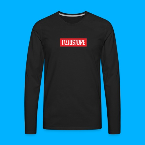Red ItzJustDre Box Logo - Men's Premium Long Sleeve T-Shirt