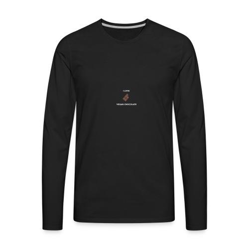 I LOVE VEGAN CHOCOLATE - Men's Premium Long Sleeve T-Shirt