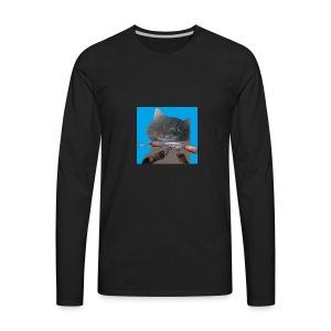 cat - T-shirt Premium à manches longues pour hommes