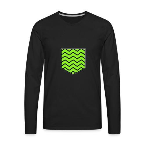 Geen stripe pocket - Men's Premium Long Sleeve T-Shirt