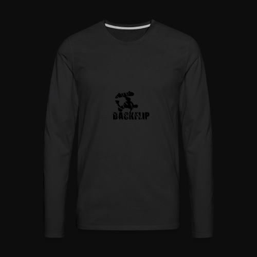 Back flip Skate Level - Men's Premium Long Sleeve T-Shirt