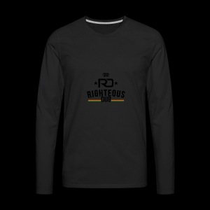 Righteous Dub Logo - Men's Premium Long Sleeve T-Shirt