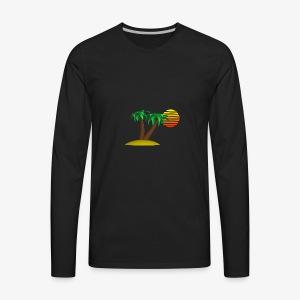 Palm Trees and Sun - Men's Premium Long Sleeve T-Shirt