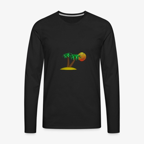 Palm Trees and Sun - Men's Premium Long Sleeve T-Shirt