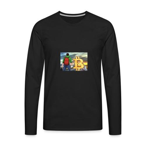 Bitcoin Highway - Men's Premium Long Sleeve T-Shirt