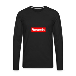 Harambe x Supreme Box Logo - Men's Premium Long Sleeve T-Shirt
