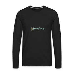 Dreambitious-Dynasty-Logo-MintGold_-1- - Men's Premium Long Sleeve T-Shirt