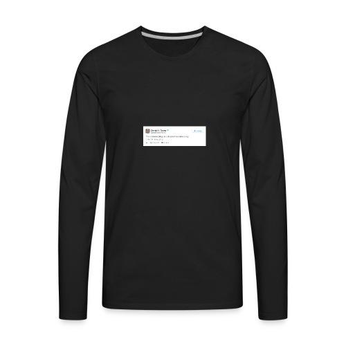 Occasionally, He Tells the Truth - Men's Premium Long Sleeve T-Shirt