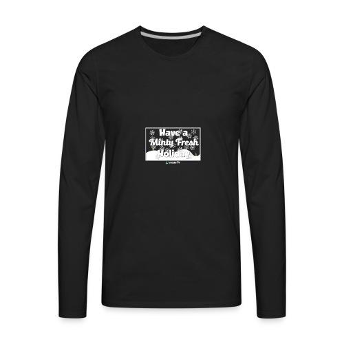 Minty Fresh Holidays - Men's Premium Long Sleeve T-Shirt