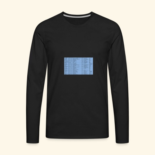 data entry with excel99 - Men's Premium Long Sleeve T-Shirt