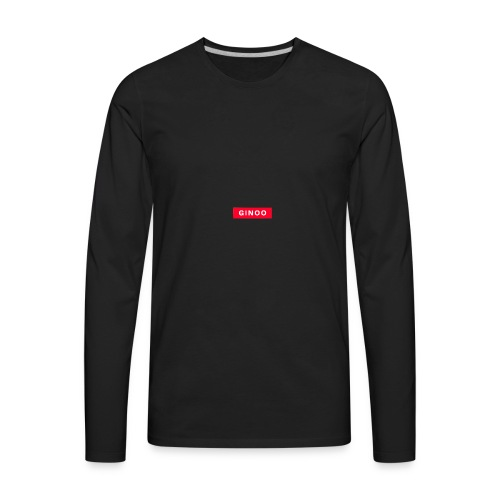 Ginoo Logo - Men's Premium Long Sleeve T-Shirt