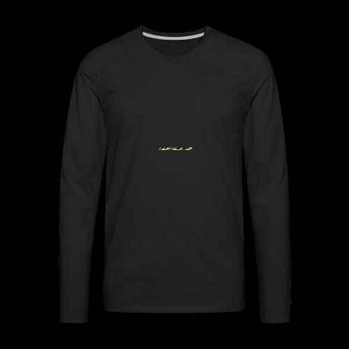 Wallz Name Design - Men's Premium Long Sleeve T-Shirt