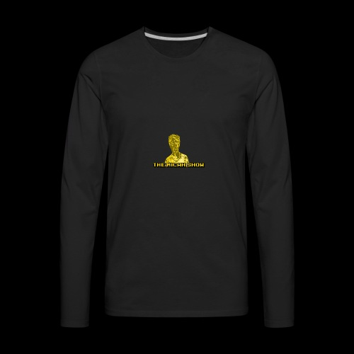 Limited Edition Gold Micah Show Logo - Men's Premium Long Sleeve T-Shirt