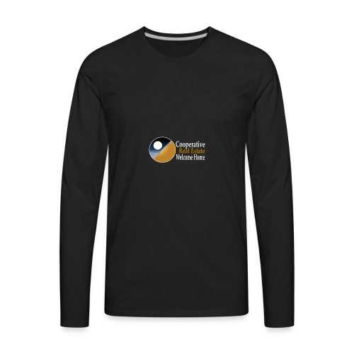00044_Logo_horizontal_for_dark_backgrounds_-1- - Men's Premium Long Sleeve T-Shirt