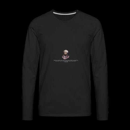 Maimonides shirt T-shirt jewish torah rabbi - Men's Premium Long Sleeve T-Shirt