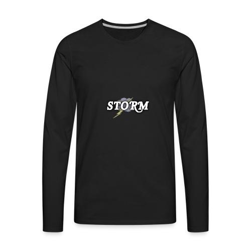STORM Clan Gaming Thunder Logo - Men's Premium Long Sleeve T-Shirt