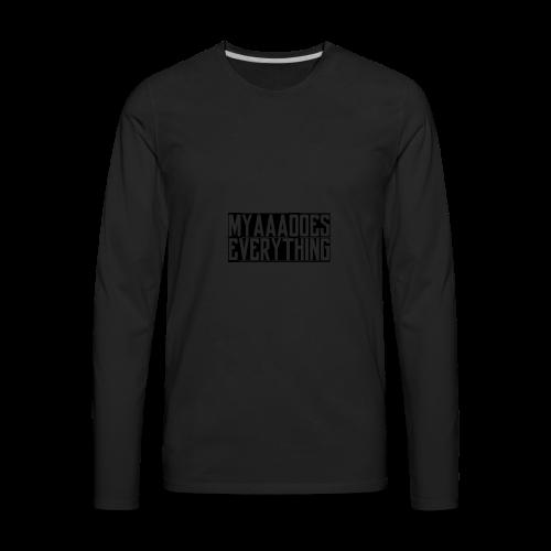 MyaaaDoesEverything (Black) - Men's Premium Long Sleeve T-Shirt