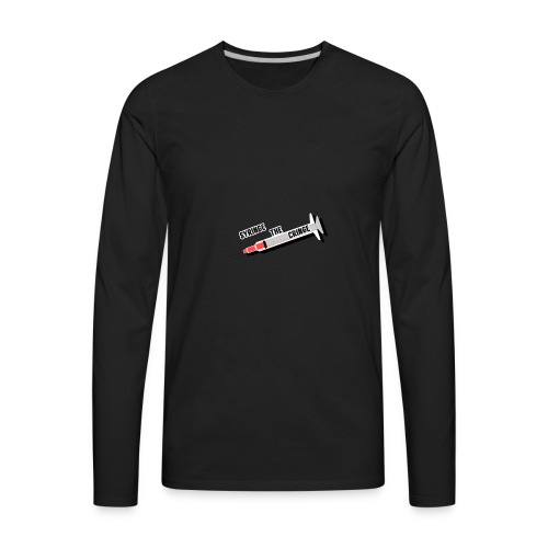 syringe the cringe - Men's Premium Long Sleeve T-Shirt