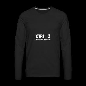 ctrl + z - Men's Premium Long Sleeve T-Shirt