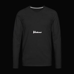 Visions white on black tees and hoodies - Men's Premium Long Sleeve T-Shirt