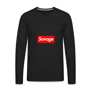 savage - Men's Premium Long Sleeve T-Shirt