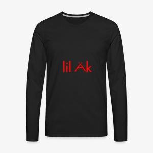 Lil AK Gun Logo - Men's Premium Long Sleeve T-Shirt