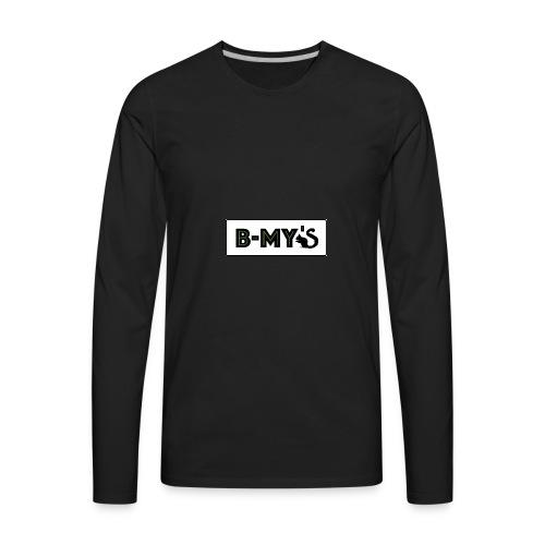 B-My's Logo - Men's Premium Long Sleeve T-Shirt