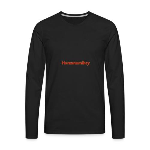 Humanumikey logo - Men's Premium Long Sleeve T-Shirt