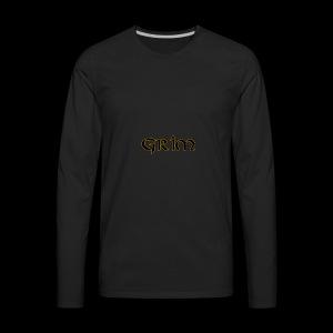 Grim Gold edge black interior - Men's Premium Long Sleeve T-Shirt
