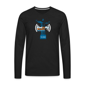 Paul in Rio Radio - The Thumbs up Corcovado #2 - Men's Premium Long Sleeve T-Shirt