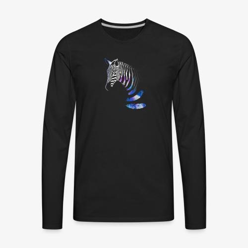 Stallion shedding feathers graphical design - Men's Premium Long Sleeve T-Shirt