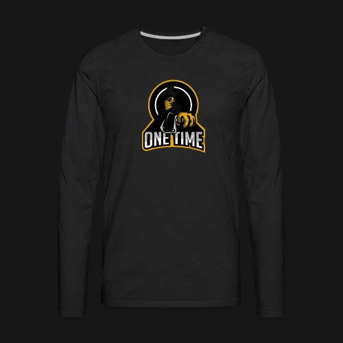 OneTime Gaming Logo - Men's Premium Long Sleeve T-Shirt